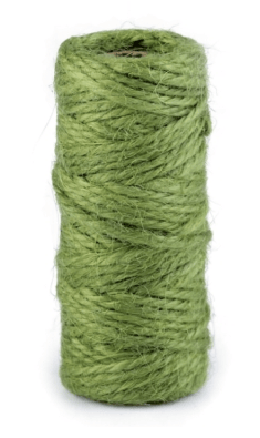 Sisalový provázek - lesní zelená - pro minimalistické dárkové balení