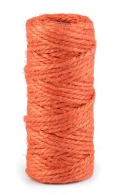 Sisalový provázek - mrkvově oranžová - pro minimalistické dárkové balení