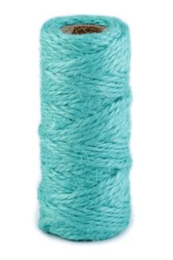 Sisalový provázek - tyrkysová - pro minimalistické dárkové balení
