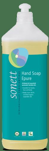 Sonett Tekuté mýdlo - épure BIO (1 l) - s kořenitou esencí 7 bylin