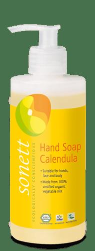 Sonett Tekuté mýdlo - měsíček BIO (300 ml) - pro vaše ruce, obličej i celé tělo