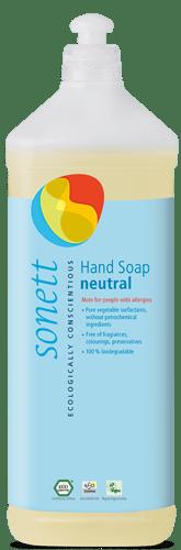 Sonett Tekuté mýdlo Sensitive BIO (1 l) - i pro nejcitlivější a alergickou pokožku
