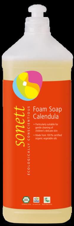 Sonett Tekuté pěnivé mýdlo pro děti - měsíček BIO (1 l) - AKCE
