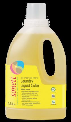 Sonett Tekutý prací gel na barevné prádlo BIO (1,5 l) - AKCE
