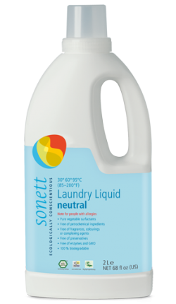 Sonett Univerzální tekutý prací gel na bílé i barevné prádlo Sensitive BIO (2 l) - AKCE