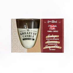 The Greatest Candle Sada - 1x svíčka (130 g) + 2x náplň - dřevo a koření - doma si vyrobíte dvě další svíčky