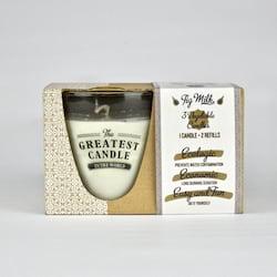 The Greatest Candle Sada - 1x svíčka (130 g) + 2x náplň - fík - doma si vyrobíte dvě další svíčky