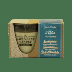 The Greatest Candle Sada - 1x svíčka (130 g) + 2x náplň - jasmínový zázrak - doma si vyrobíte dvě další svíčky