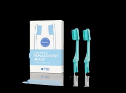 TIO Náhradní hlavice k zubnímu kartáčku (medium) (2 ks) - tyrkysově zelená - AKCE