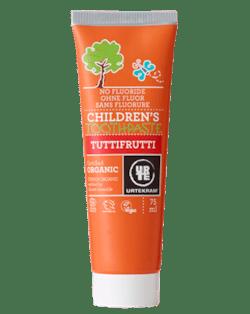 Urtekram Dětská zubní pasta tutti frutti BIO (75 ml) - bez fluoru