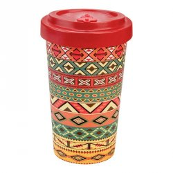 Woodway cup (500 ml) - Aztécký oranžový - z bambusu, kukuřice a pryskyřice