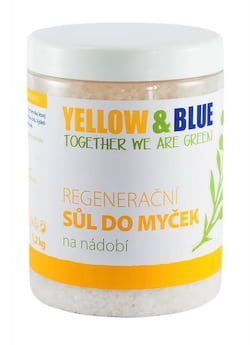 Yellow&Blue Sůl do myčky (dóza 1,2 kg) - zabraňuje usazování vodního kamene