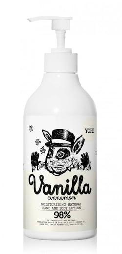 Yope Hydratační tělové mléko - vanilka a skořice (500 ml)