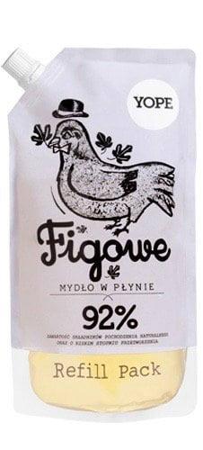 Yope Tekuté koupelnové mýdlo - fík (náplň 500 ml) - z 92 % z přírodních surovin
