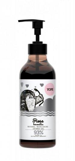 Yope Vyživující sprchový gel - růže a kadidlo (400 ml) - z 93 % z přírodních surovin