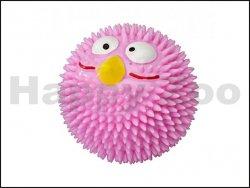 Hračka EBI guma - Lucky Bird míč jahodový růžový (S) 6,3cm