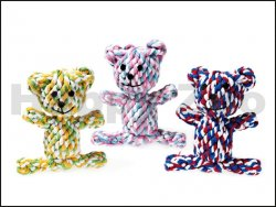 Hračka FLAMINGO bavlna - medvídek 11cm (MIX BAREV)