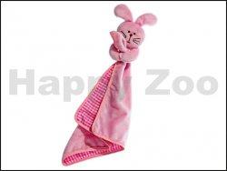 Hračka KARLIE-FLAMINGO plyš - králík růžový s dečkou 40cm (DOPRO
