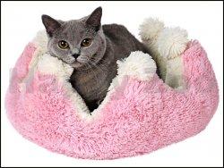 Pelech TOMMI Princess růžovobílý 38x38x20cm