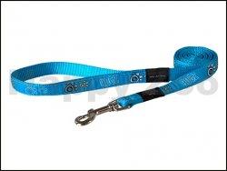 Vodítko ROGZ Fancy Dress HLL 03 CH-Turquoise Paws (L) 2x180cm