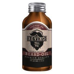 beviro Pečující olej na vousy s vůní cedru, bergamotu a borovice (Beard Oil) 200 ml