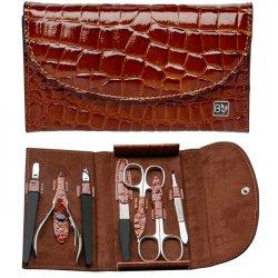 Belotty Luxusní kožená 7 dílná manikúra Damerino - SLEVA - poškozená krabička
