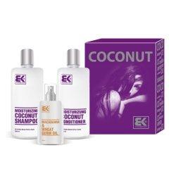Brazil Keratin Dárková sada pro suché a poškozené vlasy Coconut Set - SLEVA - poškozená krabička