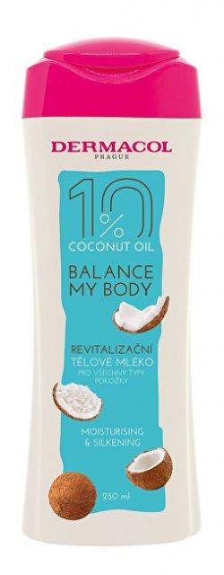Dermacol Revitalizační tělové mléko Balance My Body Coconut Oil (Moisturising & Silkening Body Milk) 250 ml