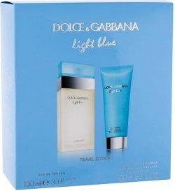 Dolce & Gabbana Light Blue EDT 100 ml + tělový krém 100 ml pro ženy dárková sada