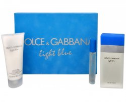 Dolce & Gabbana Light Blue - EDT 100 ml + tělový krém 100 ml + EDT 7,4 ml
