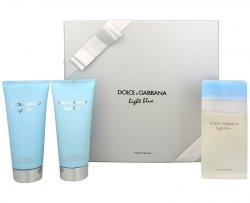 Dolce & Gabbana Light Blue - EDT 100 ml + tělový krém 100 ml + koupelový a sprchový gel 100 ml