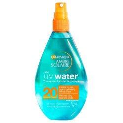 Garnier Sluneční ochrana čirá voda SPF 20 (UV Water Clear Sun Cream Spray SPF 20) 150 ml - SLEVA - poškozená etiketa