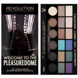 Makeup Revolution Limitovaná paletka 18 očních stínů Welcome to the Pleasuredome - SLEVA - poškozená krabička