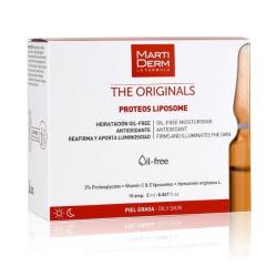 Martiderm Ampule s vitamínem C a E pro smíšenou a mastnou pleť Proteos Liposome 10 x 2 ml - SLEVA - poškozená krabička