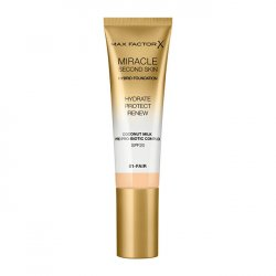 Max Factor Pečující make-up pro přirozený vzhled pleti Miracle Touch Second Skin SPF 20 (Hybrid Foundation) 30 ml 06 Golden Medium