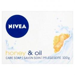 Nivea Krémové tuhé mýdlo Honey Oil (Creme Soap) 100 ml - SLEVA - pomačkaná krabička
