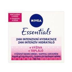 Nivea Výživný denní krém pro suchou a citlivou pleť Essentials 50 ml - SLEVA - poškozená krabička