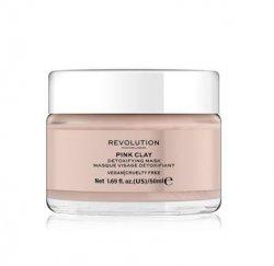 Revolution Detoxikační pleťová maska Pink Clay (Detoxifying Pink Clay Mask) 50 ml - SLEVA - poškozená krabička