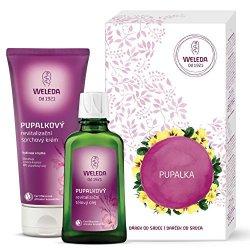 Weleda Pupalková péče sprchový krém 200 ml + tělový olej 100 ml dárková sada