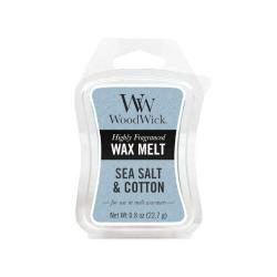 WoodWick Vonný vosk Sea Salt & Cotton 22,7 g