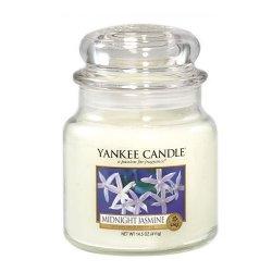 Yankee Candle Aromatická svíčka střední Midnight Jasmine 411 g - SLEVA - bez etikety