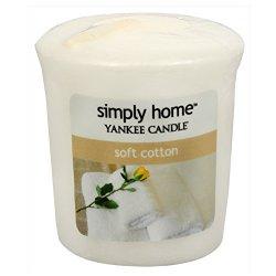 Yankee Candle Aromatická votivní svíčka Soft Cotton 49 g
