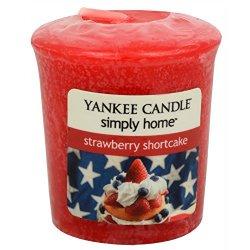 Yankee Candle Aromatická votivní svíčka Strawberry Shortcake 49 g