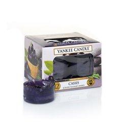 Yankee Candle Aromatické čajové svíčky Černý rybíz (Cassis) 12 x 9,8 g