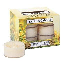 Yankee Candle Aromatické čajové svíčky Květiny na slunci (Flowers In The Sun) 12 x 9,8 g