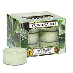 Yankee Candle Aromatické čajové svíčky Voda s aloe (Aloe Water) 12 x 9,8 g